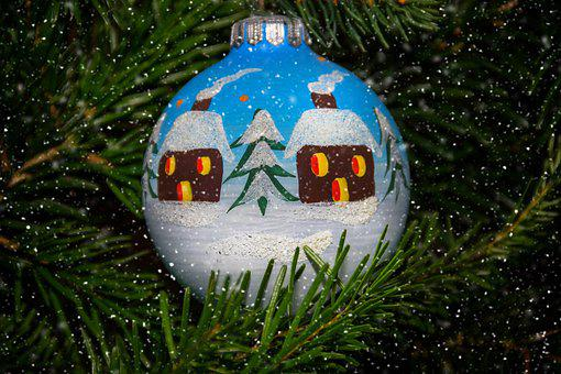 Ball, Hand Painted, Christmas Ornaments