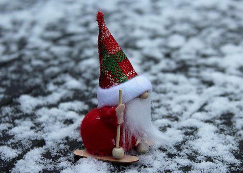 Nicholas, The Figurine, Cap, Winter, Snow, Holidays