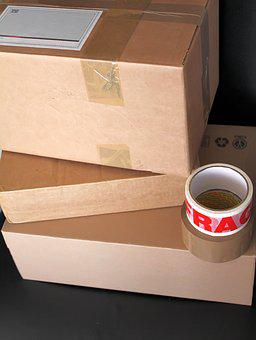 Boxes, Parcels, Deliver, Cardboard, Brown, Package