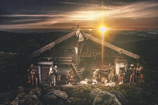 Crib, Child, Christmas, Bavaria, Nativity Scene