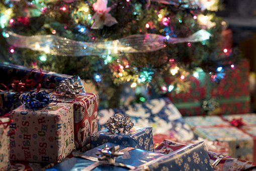 Gifts, Christmas, Presents, Packaging, Festive, Holiday