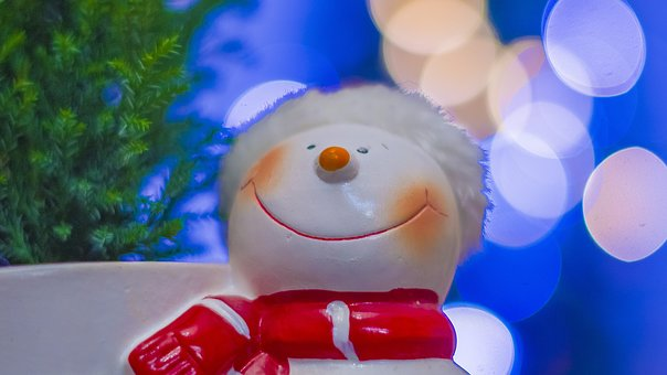 Christmas, Christmas Tree, Snowman, Decoration