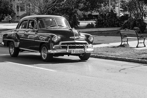 Cuba, Havana, Vedado, Nostalgia, Car, Historic