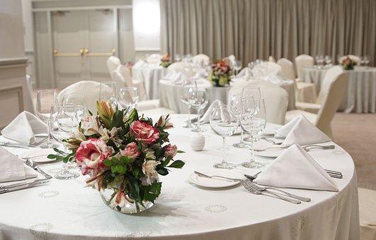 Gala Dinner, Linens, Gastronomy, Hotel, Flowers