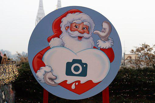 Snowman, Camera, Christmas, Figure, Cheerful, Funny