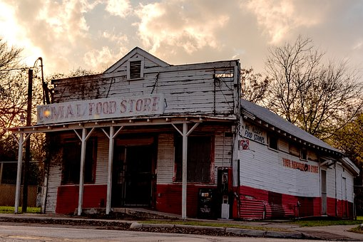Grocery Store, Old Time, General Store, Dilapidated