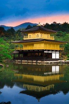 Japan, Kyoto, Temple, Architecture, Golden Pavilion