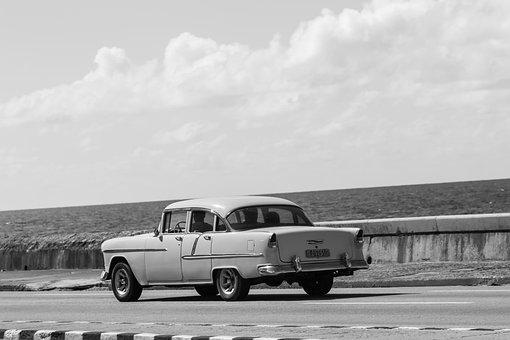 Cuba, Havana, Malecon, Nostalgia, Car, Historic