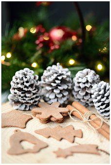 Gingerbreads, Cones, Cinnamon, Holidays, Festive Time