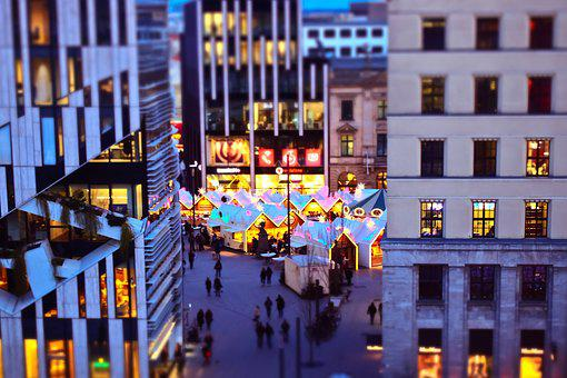 Christmas Market, City, Christmas, Lights, Lighting