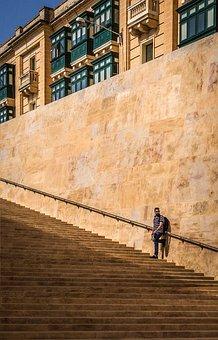 Malta, Valletta, Stairs, Architecture, Photographer
