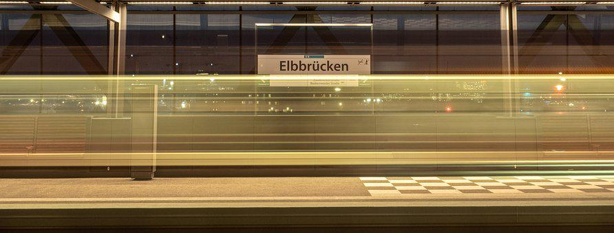 Hamburg, Train, Metro, U4, Stop, Station, Rail Traffic