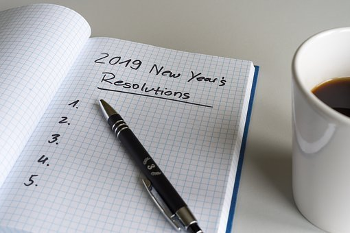 Resolutions, 2019, New Year's Day, List, Paper