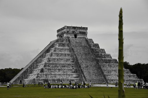 Mexico, Maya, Pyramid, Architecture, Archeology