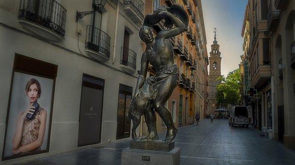 Statue, Pedestrian, Van, Sheep, Metal, Falcon