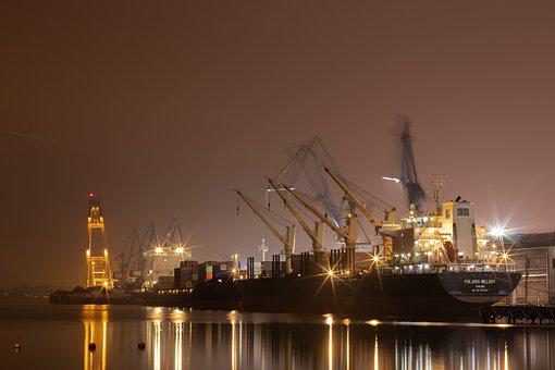Ship, Port, Cargo, Water, Shipping, City, Logistics