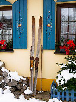Sport, Winter, Ski, Old Ski, Break, Ski Pole, Shutter