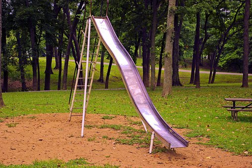 Old Playground Slide, Old, Slide, Vintage, Steel, Metal