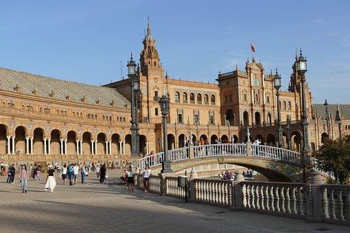 Plaza-de-espana, Sevilla, Spain, Architecture, History