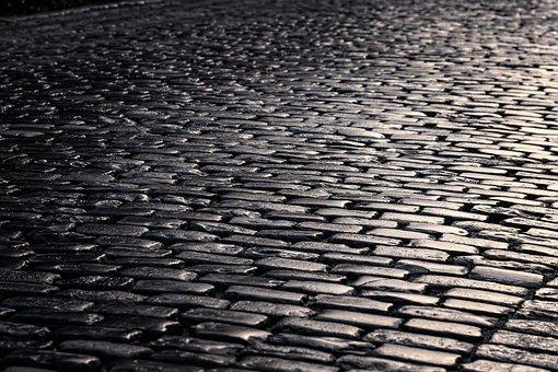 Road, Cobblestones, Patch, Paved, Stones, Pavement
