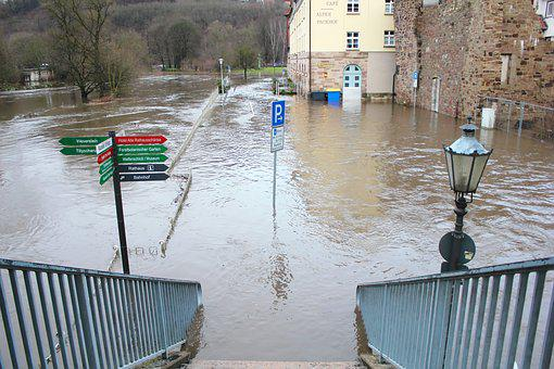 High Water, Hann, Münden, City, Truss, Lower Saxony