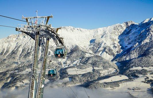 Austria, Tyrol, Scheffau, Alpine, Gondola
