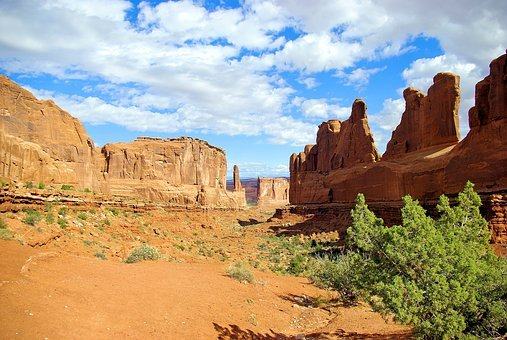 Arches' Park Avenue, Arches, National, Park, Utah