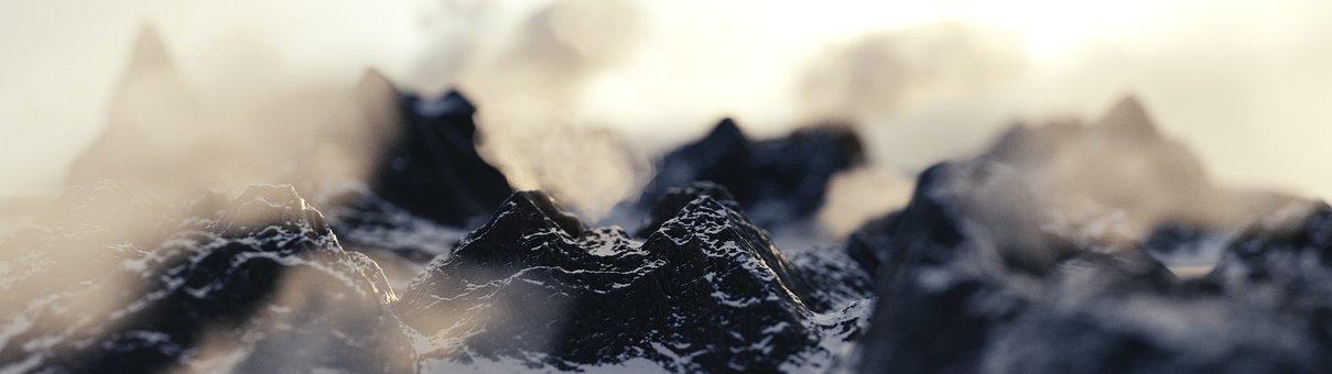 Mountain, Snow, Sky, Planet, Scenic, Scene, Virtual