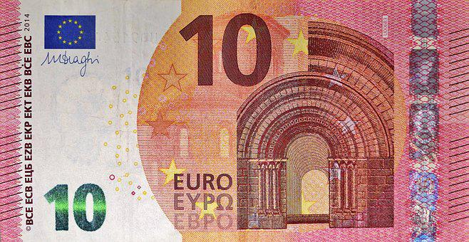 Dollar Bill, 10 Euro, Currency, Paper Money