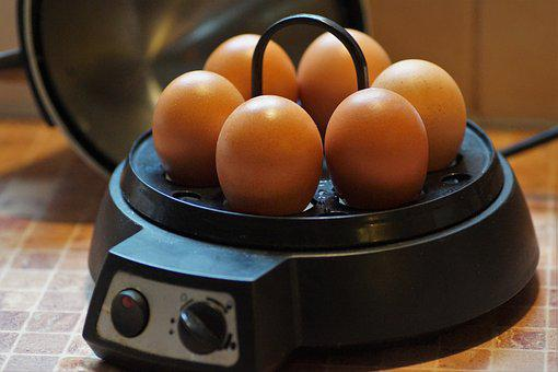 Eggs, Cooked, On, Hard-boiled, Cooker, Brewed