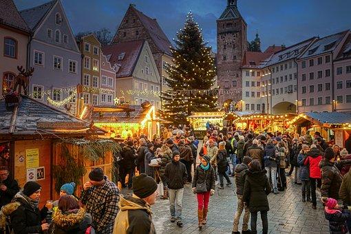 Christmas Market, Landsberg Am Lech, Historic Center