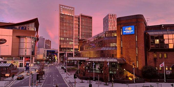 Cardiff, City, Buildings Sunrise
