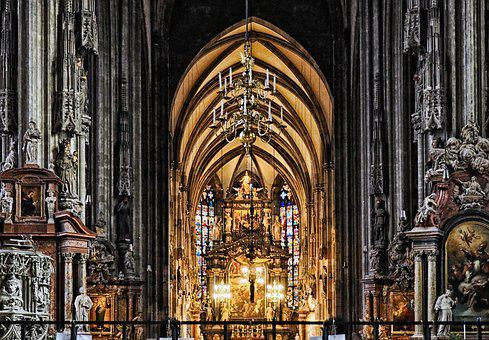 Cathedral, City, Metropolis, Architecture, Church