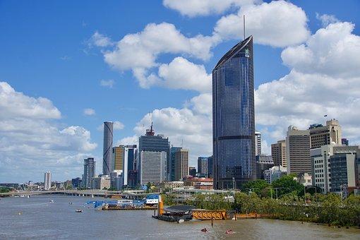 Brisbane, Cityscape, Skyline, River, Architecture