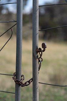 Gate, Chain, Latch, Closed, Shut, Access