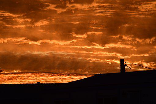 Sunrise, Orange, Sky, Nature, Clouds, Dawn, Morning