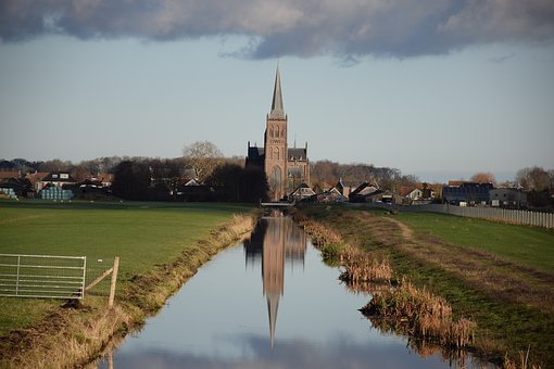 Church Tower, Polder, Landscape, Holland, Countryside
