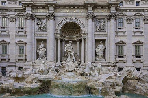 Rome, Trevi, Fountain, Sights, Tourism