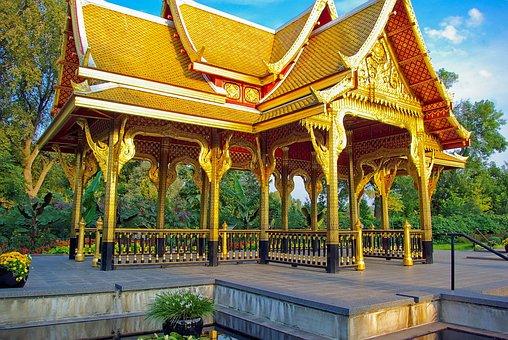 Golden Thai Pavilion At Olbrich, Olbrich, Botanical