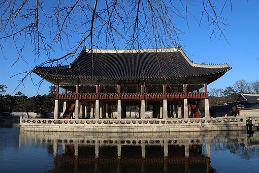 Gyeongbok Palace, Gyeonghoeru, Autumn, Landscape