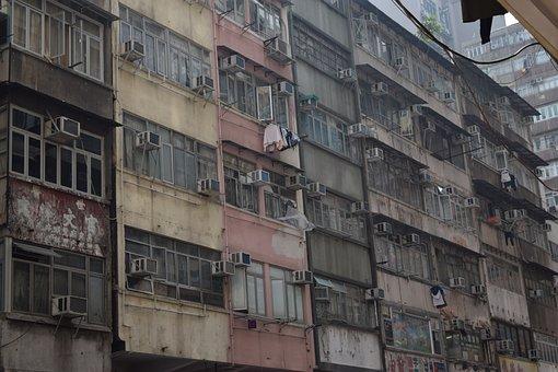 Hong Kong, Slum, China, Alley, Street, Asian, City