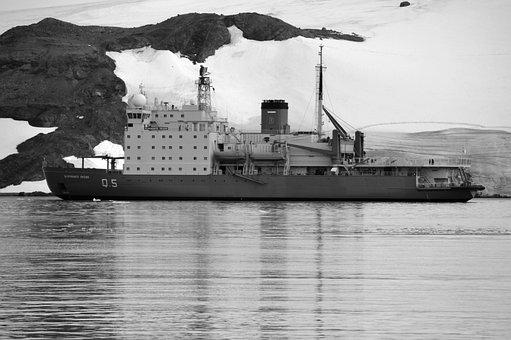 Icebreaker, Antarctica, Blancoynegro, Cold, Boat