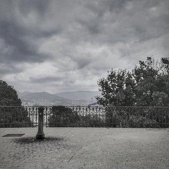 Genoa, Landscape, Clouds, Piazza, Italy, City, Tourism