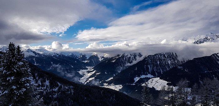 Winter, Mountains, Snow, Landscape, Nature, Mountain