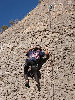 Esclada, Climber, Rock, Margalef, Priorat, Cataluny