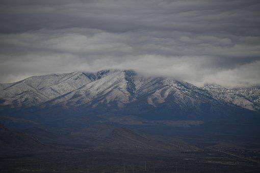 Mt, Charleston, Snow Covered, Mountain, Landscape