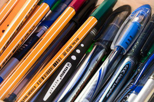 Pens, Write, Draw, Paint, Desk, Work, Office, Workplace