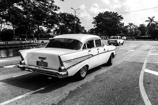 Cuba, Havana, Vedado, Plaza Cìvica, Nostalgia, Car