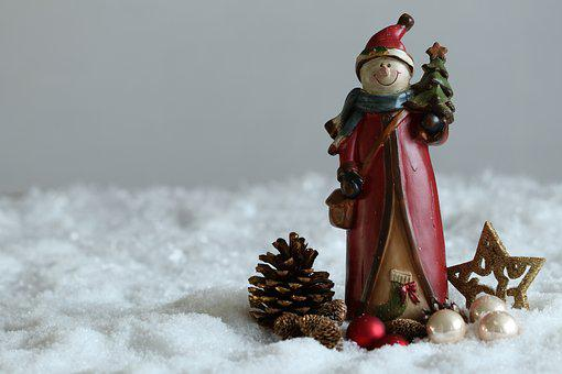 Christmas, Santa Claus, Snow, Snowman, Christmas Tree