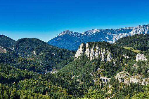 Semmering, 20schilling Views, Viaduct, Mountains